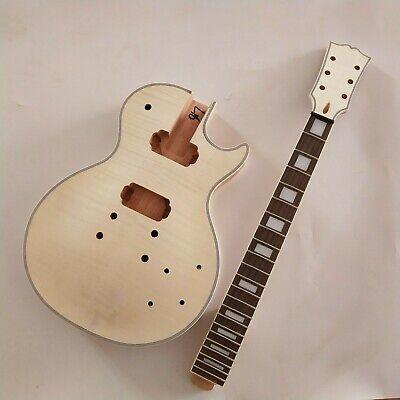 Beautiful LP parts:DIY LP Guitar Mahogany Body Unfinished Electric Guitar Kit