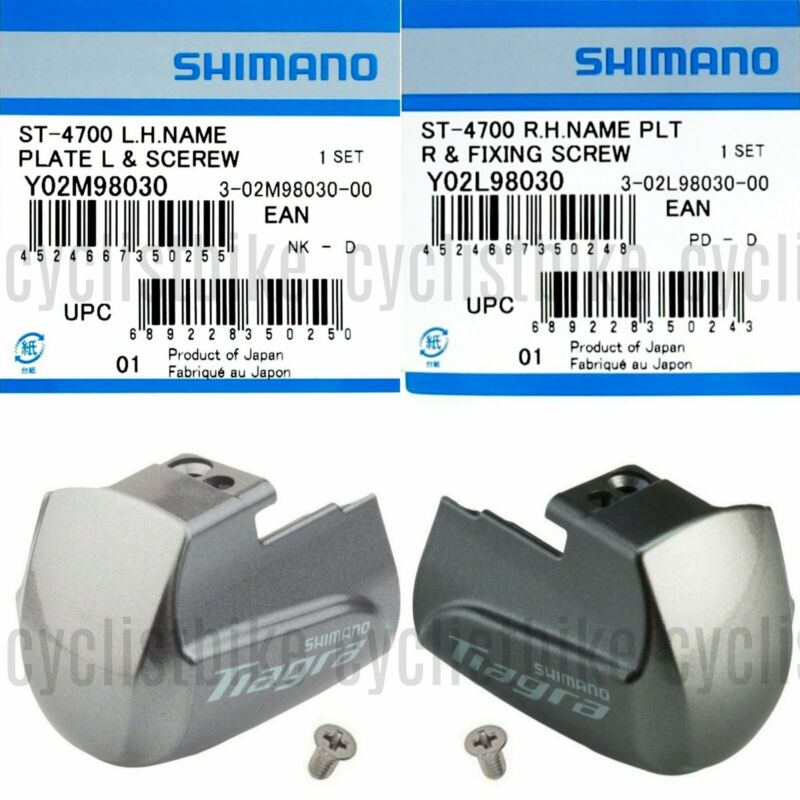 Right Genuine Shimano Tiagra ST-4700 Side Plate Name Plate /& Fixing Screw