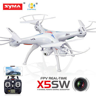 Syma X5SW-V3 Explorers Wifi FPV 2.4Ghz RC Quadcopter Drone HD Camera+5 Batteries