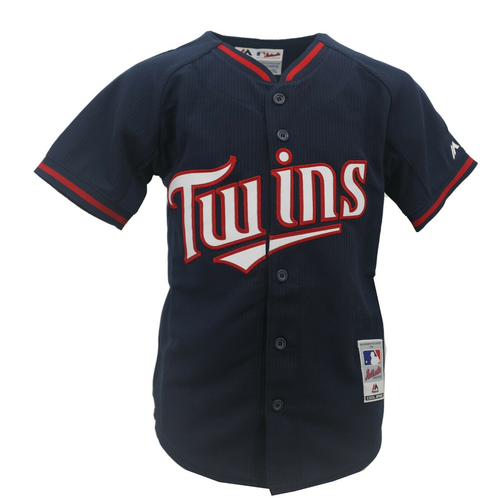 finest selection f427b 0aa7f Details about Minnesota Twins Authentic MLB Majestic Cool Base Kids Youth  Size Jersey New Tags