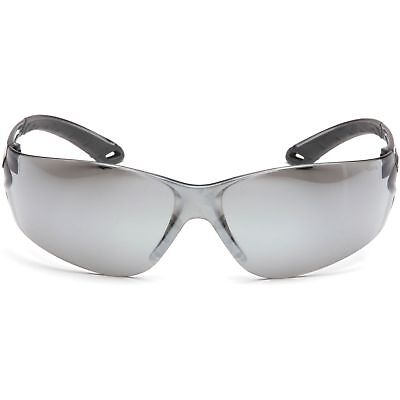 Pyramex Itek Safety Glasses With Silver Mirror Lens Gray Temples