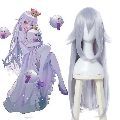 Boosette Booette Princess Teresa Cosplay Wig Silver White Long Straight - Princess Wig