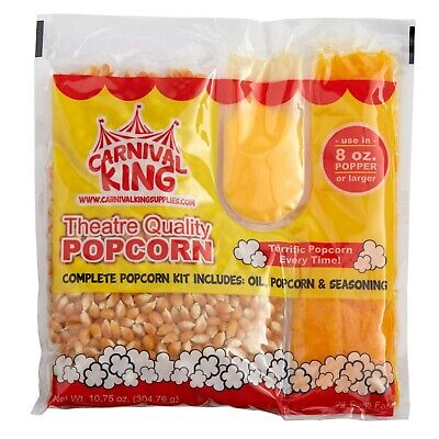 Carnival King All-in-one Popcorn Kit For 8 Oz. To 10 Oz. Poppers - 24case