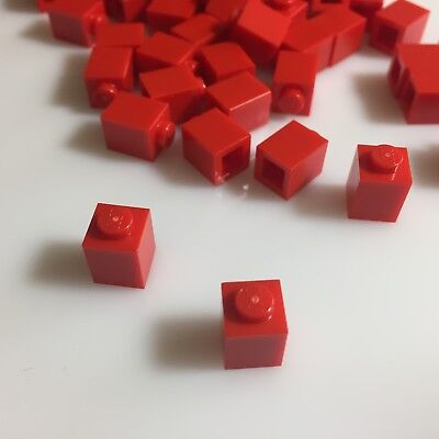 "50 NEW LEGO 1x1 Bright Red (""Red"") Bricks (ID 3005/300521) mosaic"