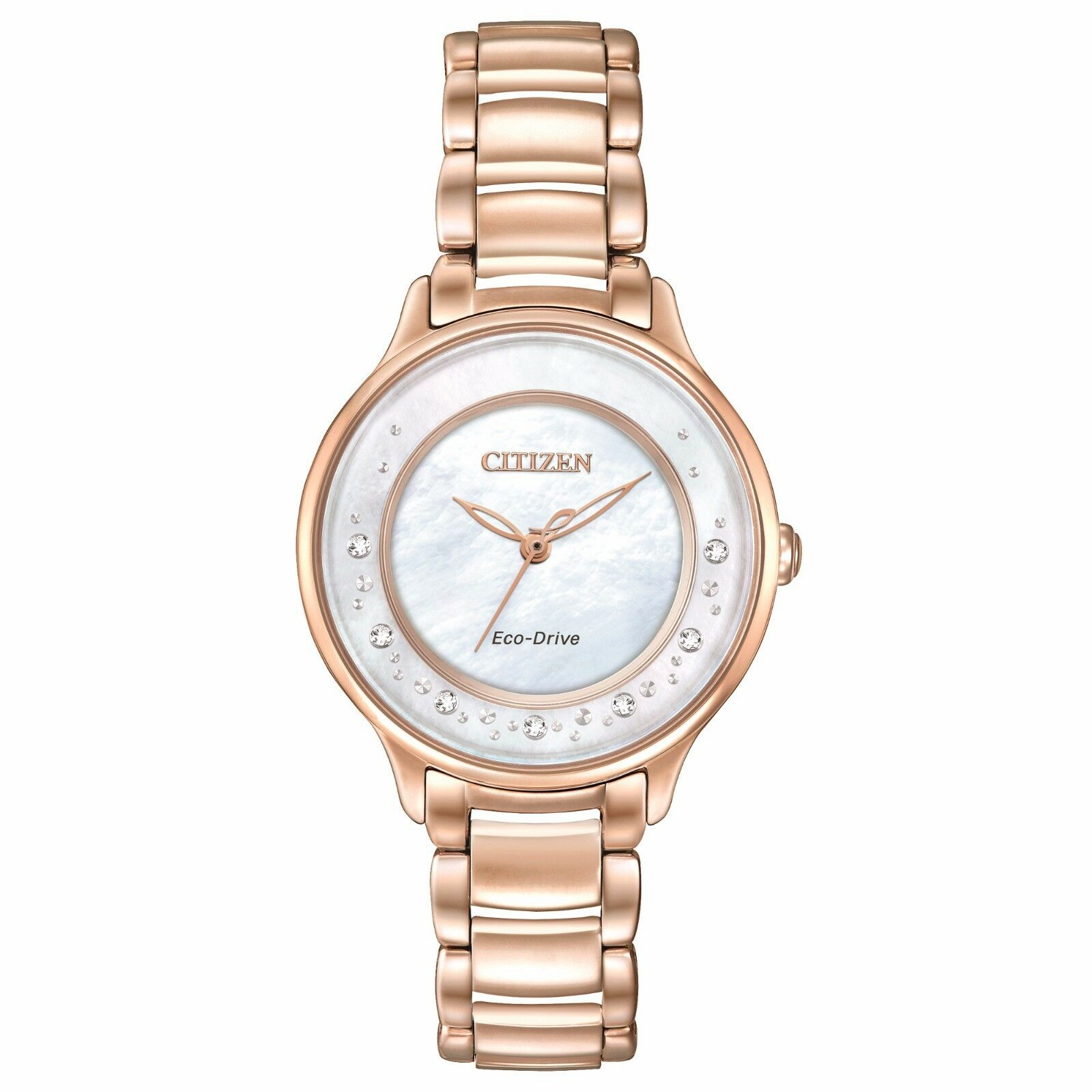 Details about Citizen Eco-Drive Women s EM0382-86D Diamond Markers Rose Gold  Dress 30mm Watch 75c6411f08