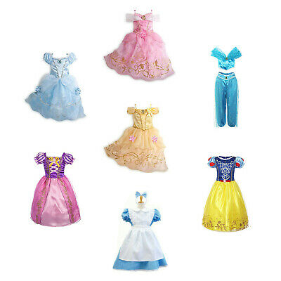 Kids Girls Halloween Costume Princess Fairytale Dress Up Belle Cinderella Alice