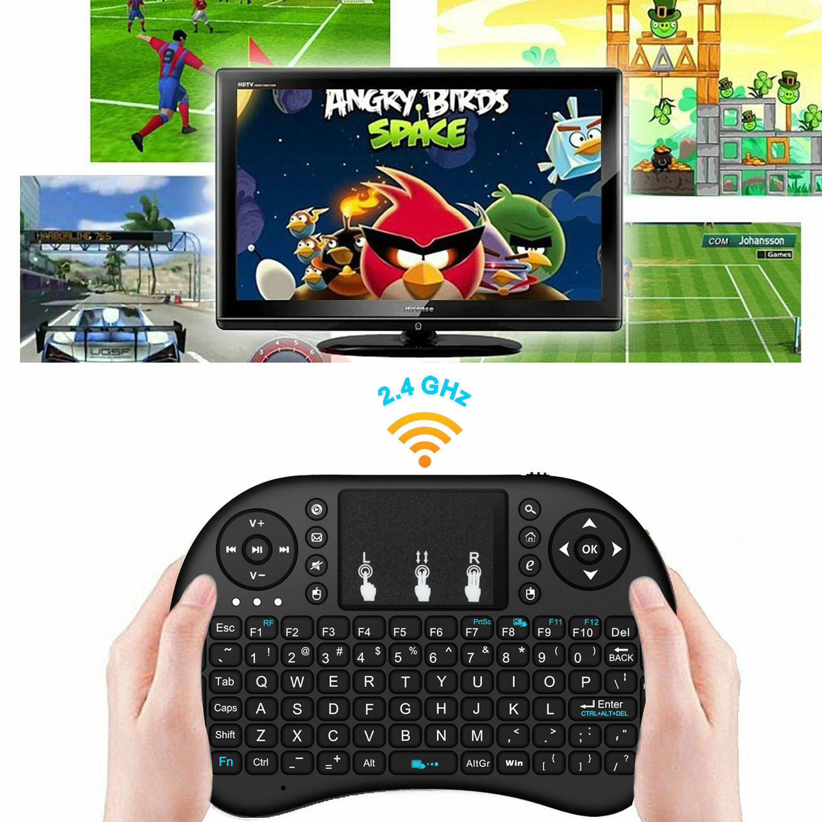 i8 2.4GHz Wireless Hot Mini Keyboard with Touchpad for smart