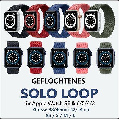 Apple Watch Armband 1 2 3 4 5 6 SE Sport Solo Loop Nylon Band 38-40mm 42-44mm
