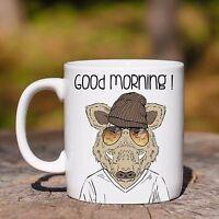 Tazza Ceramica Cinghiale Good Morning Animal Hipster Ceramic Mug -  - ebay.it