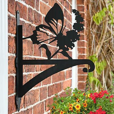 New Butterfly Iron Hanging Basket Bracket - 47cm x 33cm