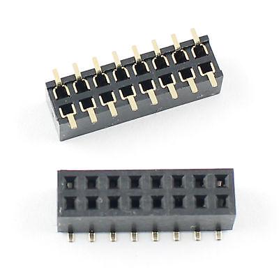 10pcs 2mm 2.0mm Pitch 2x8 Pin 16 Pin Female Dual Row Smt Smd Pin Header Strip