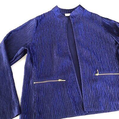 Chico's Lustrous Shine   Jacket- Purple Shimmer  / size 1