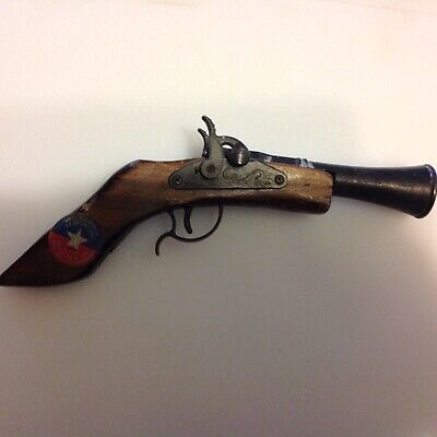 Toy cap pistol, double hammer blunderbuss, real old and made in america