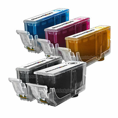 - 5 PGI-220 220 CLI-221 Black & Color Printer Ink Cartridge for Canon PIXMA iP4700