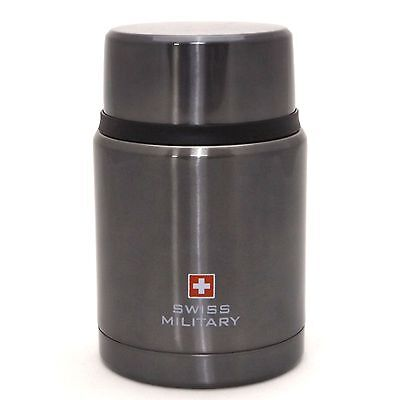 Swiss Military Stainless Steel Vacuum Thermos Food Jar Container Lunch 16 Ounce