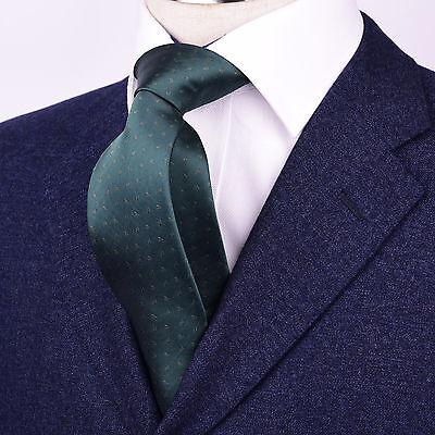 Mens Green Skinny Tie Floral Pattern 3