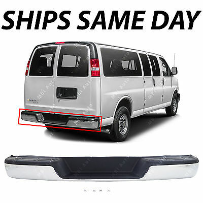 NEW Complete Chrome Rear Step Bumper for 1996 2018 Chevy Express GMC Savana Van