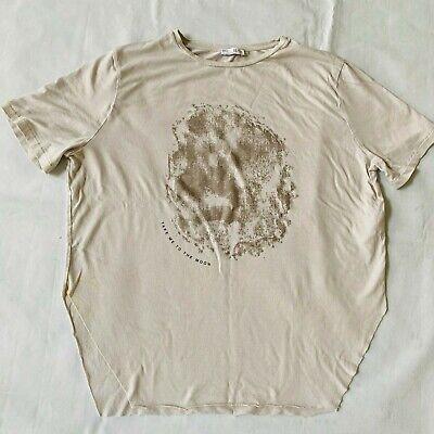 Zara Womens Tshirt Top Shirt Short Sleeve Crew Moon Casual Used Small S