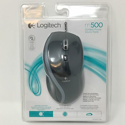 Logitech M500 Corded Wired USB Mouse - Black 910-001204