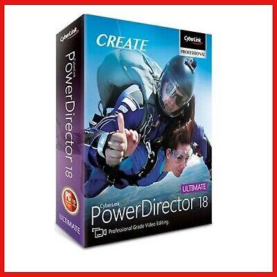 CyberLink PowerDirector Ultimate 18  | Lifetime License | |  Instant delivery