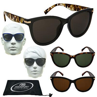 Cat Eye Mode Sonnenbrille Schwarz Landschildkröte Gold Akzent Hupe Rim Rund Glas