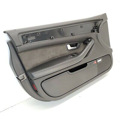 2007 04-10 AUDI S8 A8 FRONT LEFT BLACK SUEDE MEMORY DRIVERS DOOR PANEL COVER OEM