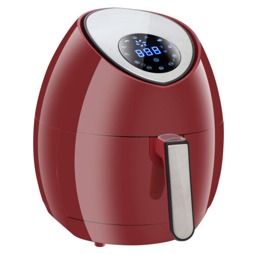 Red 1500W Digital Air Fryer Rapid Heat Technology Touch Scre