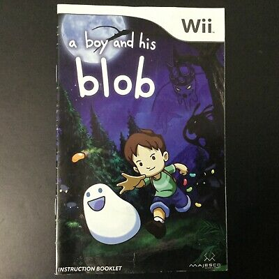 A Boy and His Blob Nintendo Wii Instruction Manual Only - Good