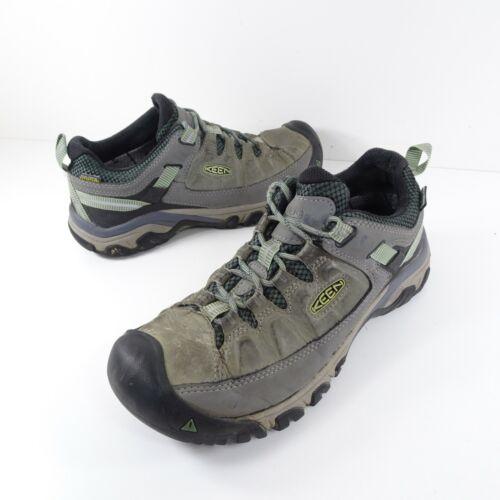 Keen Targhee III Womens 8.5 Bleacher Duck Green 1018155 Hiking Shoes Waterproof