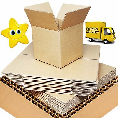 5 x STRONG CARDBOARD POSTAL REMOVAL BOXES 14x14x14