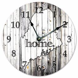 MAINE RUSTIC HOME STATE CLOCK - Large 10.5 Wall Clock - 2228