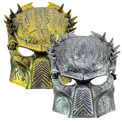 Alien vs PREDATOR Warrior AVP   Cosplay Full Face Costume MASK   GOLD or SILVER