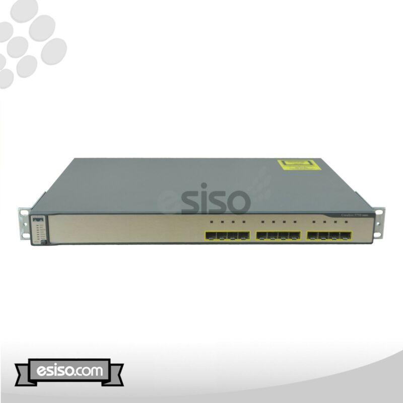 Ws-c3750g-12s-e Cisco Catalyst 3750g Series Poe 12 Port Gigabit Switch W/ Ears