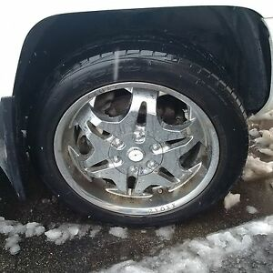 "20"" Chrome rims and tires for Honda Ridgeline"