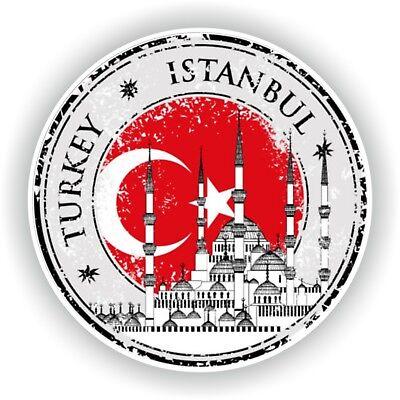 Istanbul Turkei Stempel Siegel Aufkleber für Auto Lkw Laptop Tablet ()