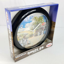 NEW Menards Exclusive Route 66 Collection Sunoco Motorcycle Chopper Wall Clock