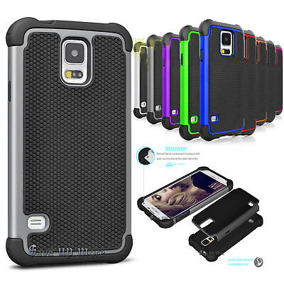 For Samsung Galaxy S5 S3 Shockproof Armor Rugged Rubber PC Hard Case Cover i9600 - Samsung S3 Case