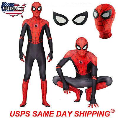 Gentleman Halloween Costumes (Boys/Kids Spider-Man Far From Home Halloween Spiderman Zentai Cosplay Costume)