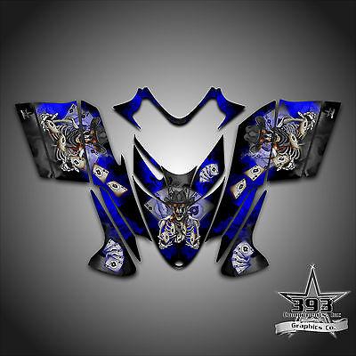 Polaris IQ RMK Shift Dragon Graphics Decal Wrap 2005-2012 Cowboy Outlaw Blue