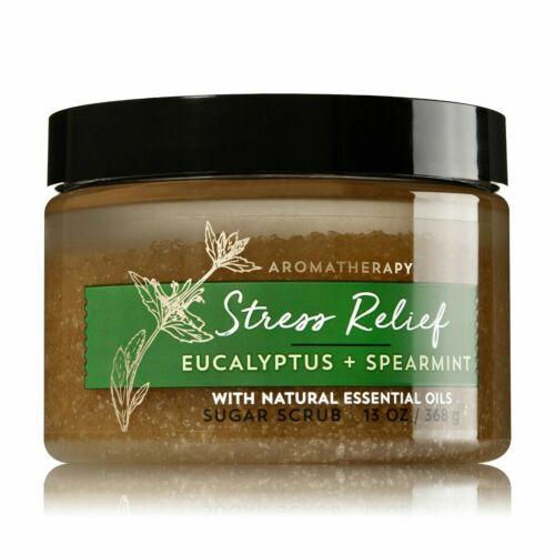 Bath & Body Works Aromatherapy STRESS RELIEF Eucalyptus Sugar Scrub 13 oz