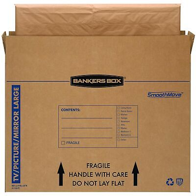 Bankers Box Smoothmove Tvpicturemirror Moving Box Large 48 X 4 X 33 Inche...