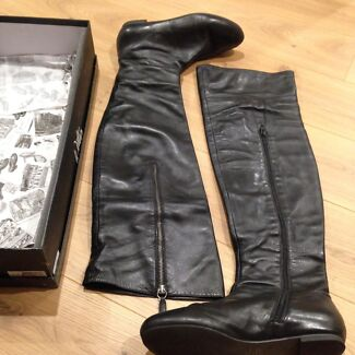 Ladies Wittner Leather Boots Size 9 Engadine Sutherland Area Preview