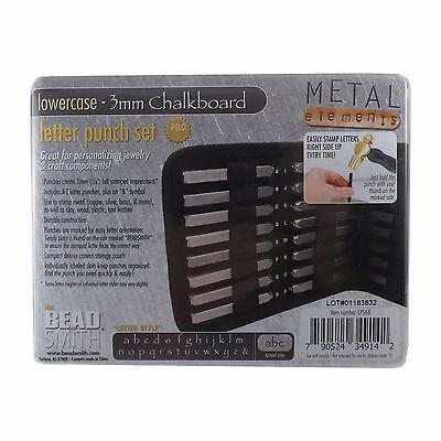 3mm Chalkboard Lowercase Letter Stamp Set Punch 27 Piece Steel Metal Alphabet