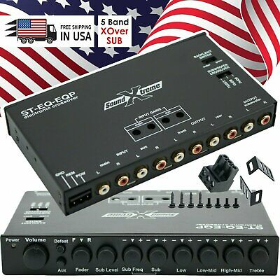 SoundXtreme 1/2 Din 5 Band Pre Amp Graphic Car Audio Stereo