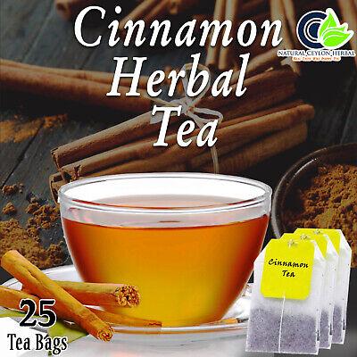 Ceylon Cinnamon Tea 25 bags -Pure Organic Best Herbal Drink- Balance Blood