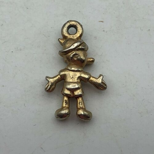 Vtg Disney Pinocchio Charm Much Of The Color Finish Has Work Off   F4