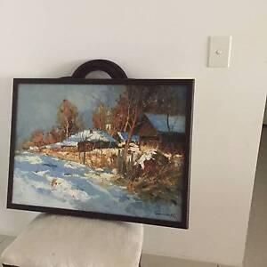 Original oil painting by AA Kolotilov Bundall Gold Coast City Preview