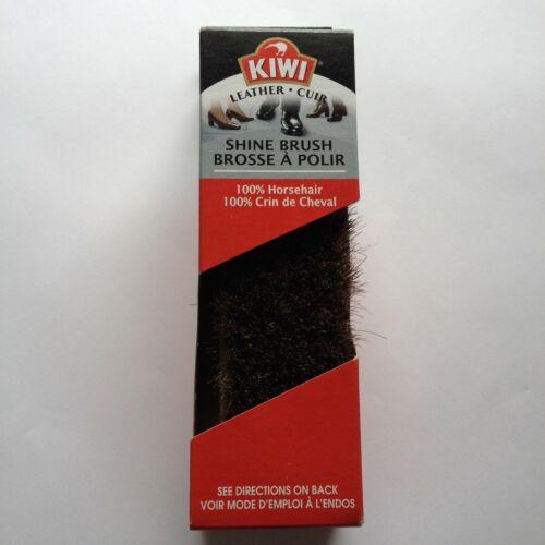KIWI Horse Hair Shoe & Leather Shine Brush Made in USA New **