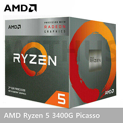 AMD Ryzen 5 3400G Picasso CPU Processor 4 Core 8 Thread 3.7GHz 12nm DDR4 65W