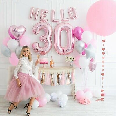 30th Birthday Decor (STUNNING 30th Birthday Decorations Party Supplies for her SASH HELLO 30)